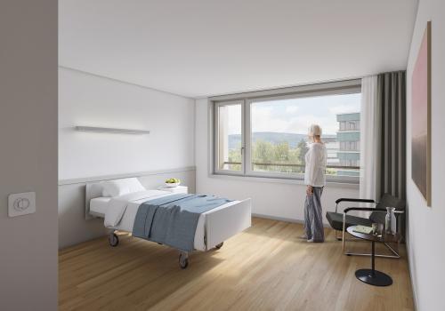 Ein zukünftiges Zimmer des Pflegeheims. © Thomas Sponti