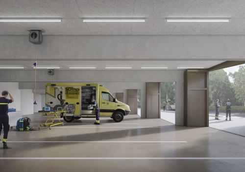 Innenansicht des neuen Ambulanzzentrums. © Thomas Sponti